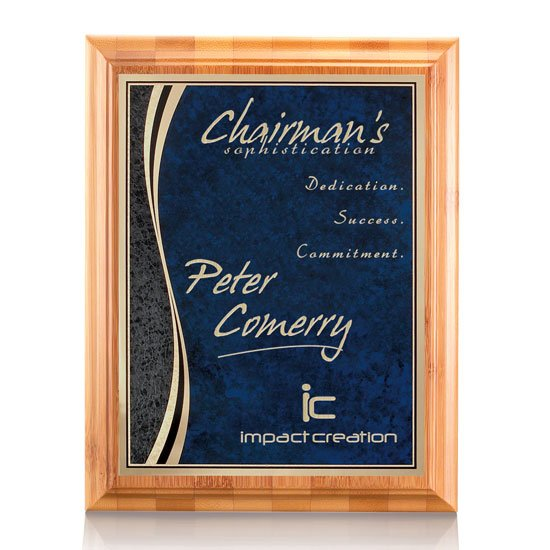 Bamboo/Finch Plaque - Blue