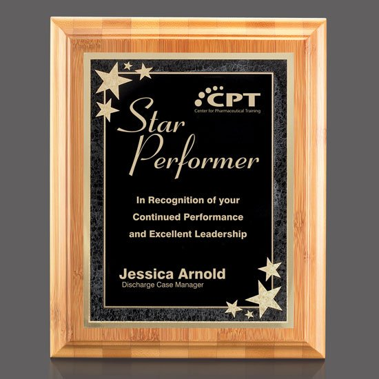 Bamboo/Starburst Plaque - Black