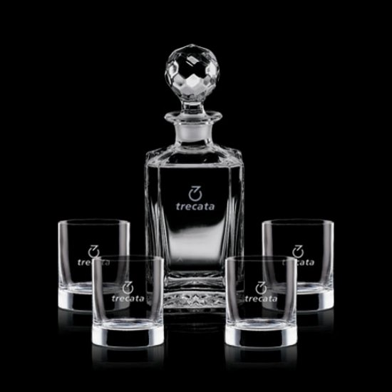 Bainbridge Decanter & 4 On-the-Rocks