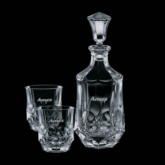 Foxborough Decanter & 2 On-the-Rocks
