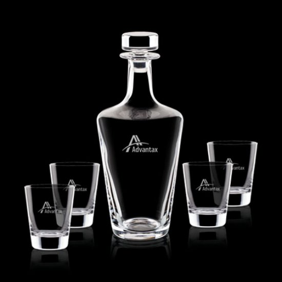 Frazier Decanter & 4 On-the-Rocks