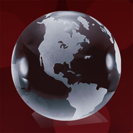 Clear Globe with Frosted Land