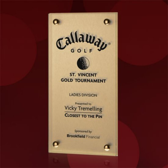 Sign Plaque - Metallic Gold