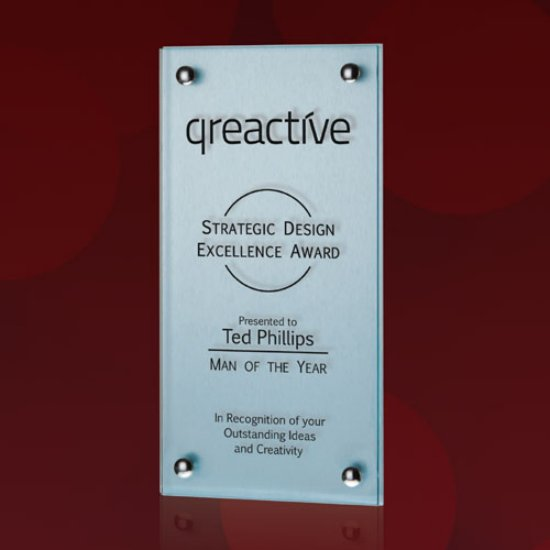 Sign Plaque - Metallic Silver