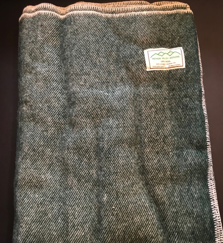 100% wool blanket (Green)