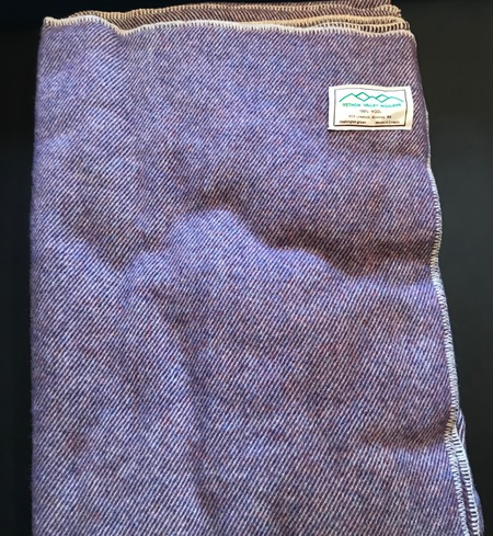 100% wool blanket (Purple)