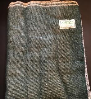100% wool blanket (Green)
