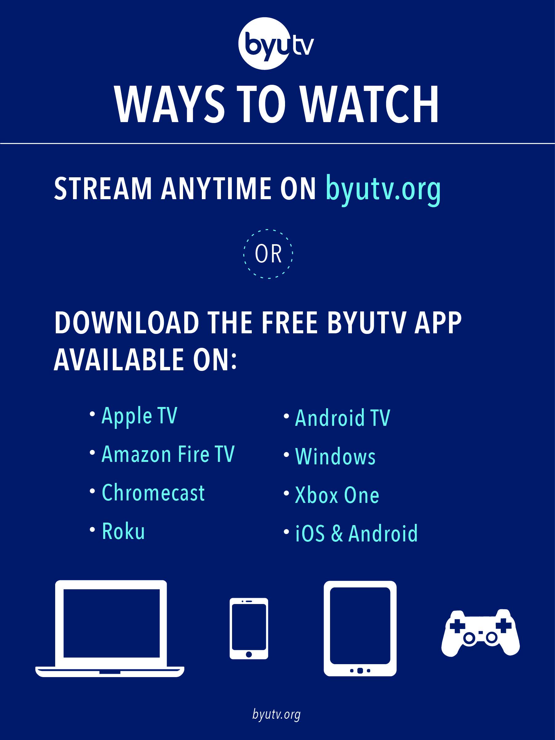 How to Watch BYUtv - BYUtv