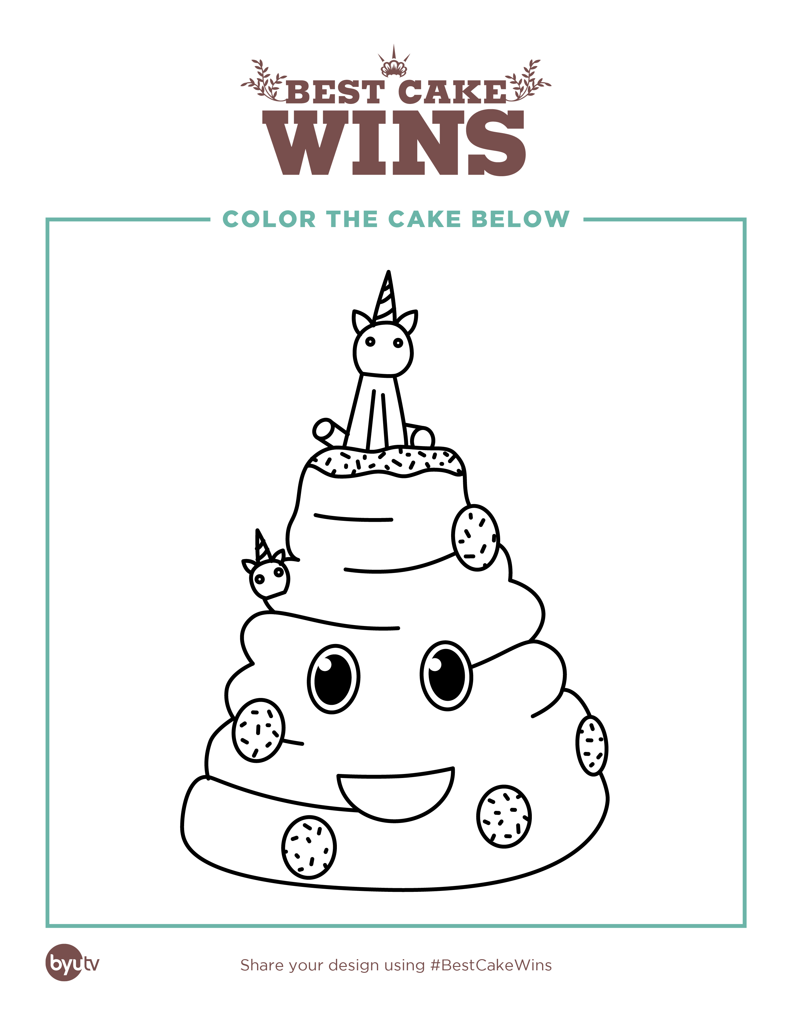 Best Cake Wins Coloring Pages - BYUtv
