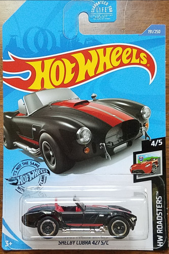 2020 Hot Wheels #191 ROADSTERS BLACK SHELBY COBRA 427 S//C Lot of 3 New Car