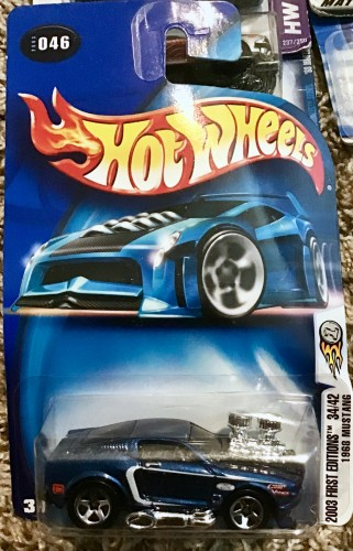 2003 Hot Wheels First Editions 1968 Mustang Blue 46