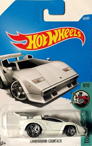 hot wheels 2017 lamborghini countach white c case 54 ebay. Black Bedroom Furniture Sets. Home Design Ideas