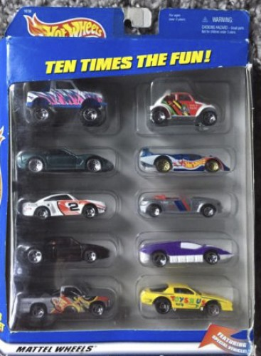 Toys R Us 10 Car Gift Set Collect Hot Wheels