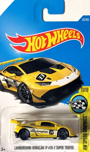 hot wheels 2017 lamborghini huracan lp 620 2 super trofeo yellow e case. Black Bedroom Furniture Sets. Home Design Ideas