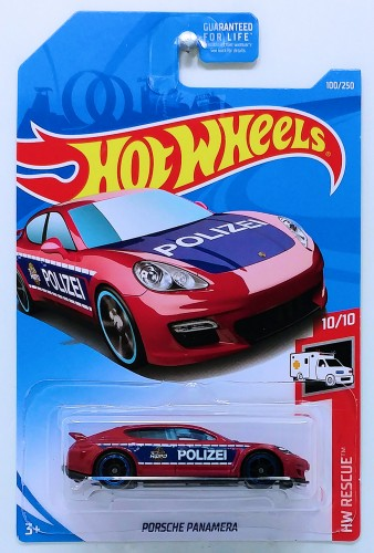 Hot Wheels Toy Car Porsche Panamera 100//250 HW Rescue 10//10