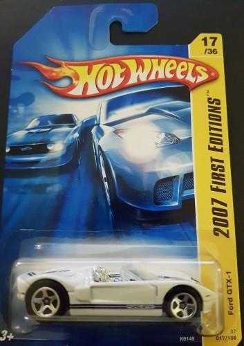 HOT WHEELS 2007 NEW MODELS FORD GTX-1 #17//36 WHITE
