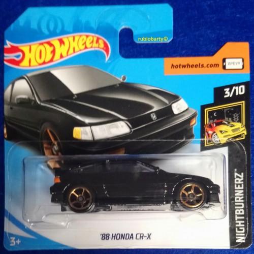 Hot Wheels /'88 Honda CRX Black 2019 Short Card