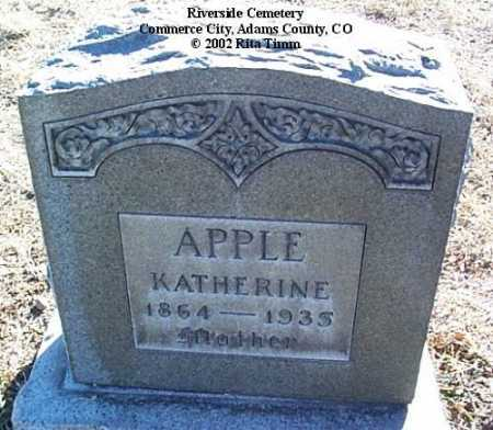 APPLE, KATHERINE - Adams County, Colorado | KATHERINE APPLE - Colorado Gravestone Photos