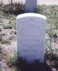 ARMSTRONG, JOHN - Adams County, Colorado | JOHN ARMSTRONG - Colorado Gravestone Photos