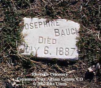 BAUCH, JOSEPHINE - Adams County, Colorado | JOSEPHINE BAUCH - Colorado Gravestone Photos
