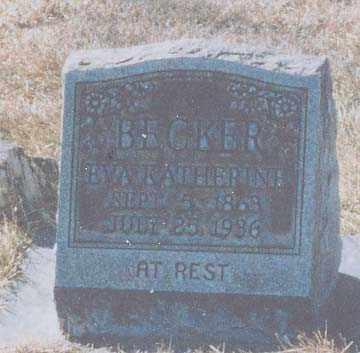 BECKER, EVA KATHERINE - Adams County, Colorado | EVA KATHERINE BECKER - Colorado Gravestone Photos