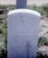 BENNETT, J. A. - Adams County, Colorado | J. A. BENNETT - Colorado Gravestone Photos