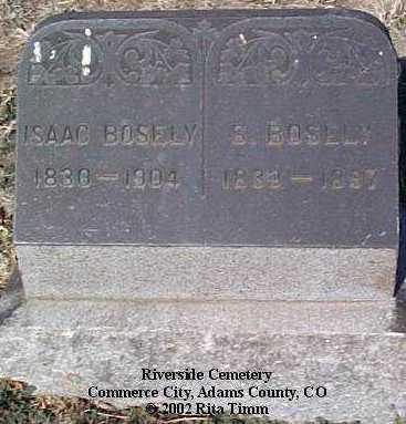 BOSLEY, S. - Adams County, Colorado   S. BOSLEY - Colorado Gravestone Photos