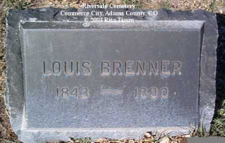 BRENNER, LOUIS - Adams County, Colorado | LOUIS BRENNER - Colorado Gravestone Photos