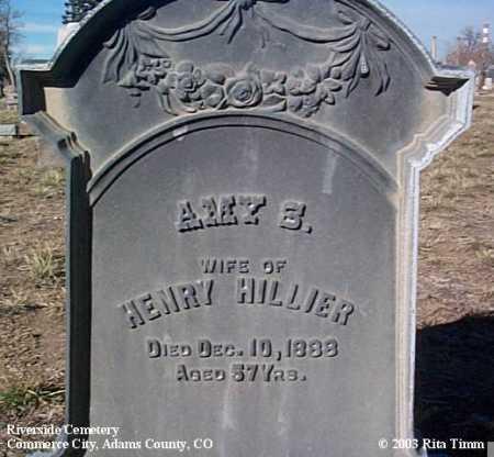 HILLIER, AMY S. - Adams County, Colorado | AMY S. HILLIER - Colorado Gravestone Photos
