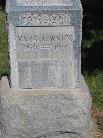 MINNICK, MYRA - Adams County, Colorado   MYRA MINNICK - Colorado Gravestone Photos