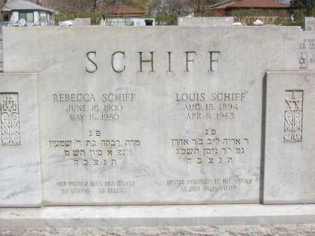 SCHIFF, LOUIS LABEL ARON - Adams County, Colorado | LOUIS LABEL ARON SCHIFF - Colorado Gravestone Photos