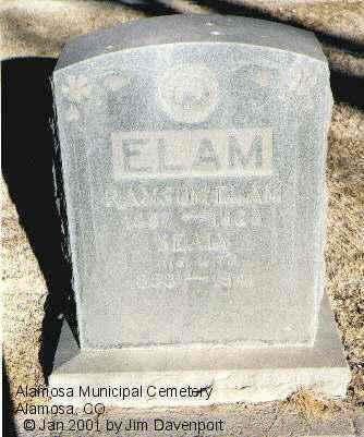 ELAM, SEALY - Alamosa County, Colorado | SEALY ELAM - Colorado Gravestone Photos