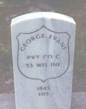 EVANS, GEORGE - Alamosa County, Colorado   GEORGE EVANS - Colorado Gravestone Photos