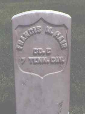 HAIR, FRANCIS M. - Alamosa County, Colorado | FRANCIS M. HAIR - Colorado Gravestone Photos