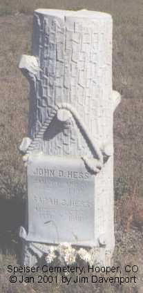 HESS, JOHN D. - Alamosa County, Colorado | JOHN D. HESS - Colorado Gravestone Photos