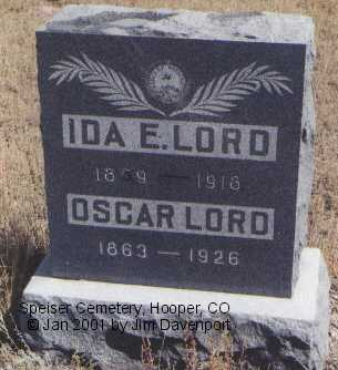 LORD, IDA E. - Alamosa County, Colorado | IDA E. LORD - Colorado Gravestone Photos