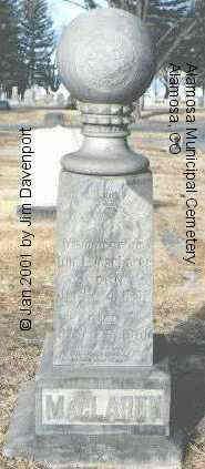 MACLAREN, WM. B. - Alamosa County, Colorado | WM. B. MACLAREN - Colorado Gravestone Photos