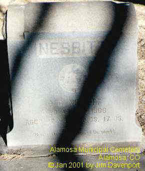 NESBITT, O. G. - Alamosa County, Colorado | O. G. NESBITT - Colorado Gravestone Photos