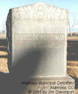 WERTHAM, THEODORE - Alamosa County, Colorado | THEODORE WERTHAM - Colorado Gravestone Photos