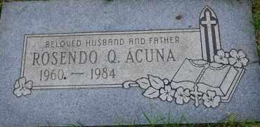 ACUNA, ROSENDO Q - Arapahoe County, Colorado | ROSENDO Q ACUNA - Colorado Gravestone Photos