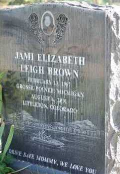 BROWN, JAMI ELIZABETH - Arapahoe County, Colorado | JAMI ELIZABETH BROWN - Colorado Gravestone Photos