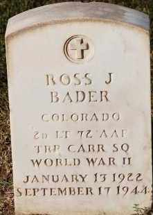 BADER, ROSS J. JR. - Arapahoe County, Colorado   ROSS J. JR. BADER - Colorado Gravestone Photos
