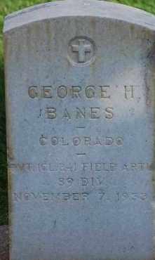 BANES, GEORGE H - Arapahoe County, Colorado   GEORGE H BANES - Colorado Gravestone Photos