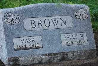 BROWN, SALLY W - Arapahoe County, Colorado | SALLY W BROWN - Colorado Gravestone Photos