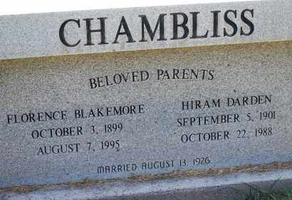 BLACKMORE CHAMBLISS, FLORENCE - Arapahoe County, Colorado | FLORENCE BLACKMORE CHAMBLISS - Colorado Gravestone Photos