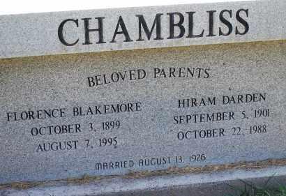 CHAMBLISS, HIRAM DARDEN - Arapahoe County, Colorado | HIRAM DARDEN CHAMBLISS - Colorado Gravestone Photos