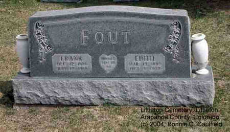 FOUT, FRANK - Arapahoe County, Colorado | FRANK FOUT - Colorado Gravestone Photos