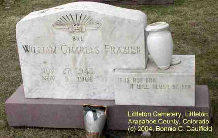 FRAZIER, WILLIAM CHARLES - Arapahoe County, Colorado | WILLIAM CHARLES FRAZIER - Colorado Gravestone Photos