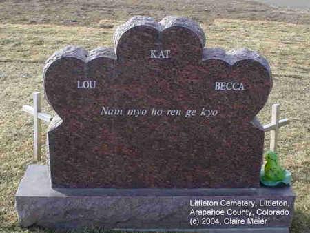 GONZALES, MONUMENT [BACK] - Arapahoe County, Colorado   MONUMENT [BACK] GONZALES - Colorado Gravestone Photos
