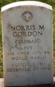 GORDON, NORRIS M - Arapahoe County, Colorado | NORRIS M GORDON - Colorado Gravestone Photos